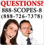 Call us at 1-888-SCOPES-8 (888-726-7378)